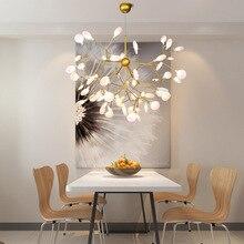 Modern Nordic Pendant Light Suspension Luminaire Lustre Lighting 110V 220V G4 Living Room Bedroom Golden Black LED Hanging Lamp недорого