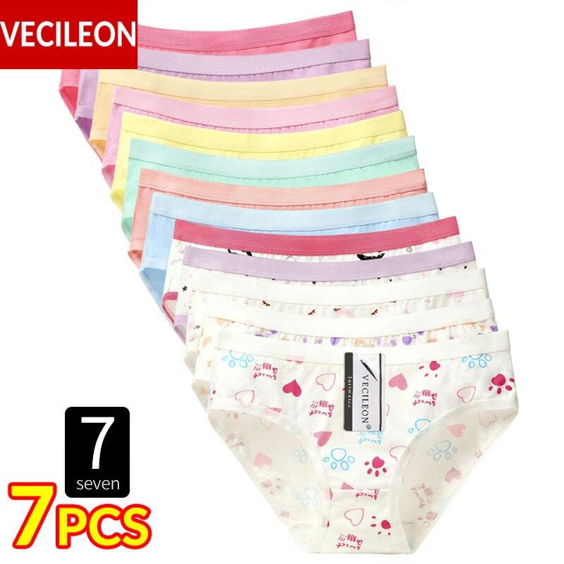 7PCS Cotton Underwear Women   Panties   Plus Size Pants Large Womens Ladies Female Girls   Panty   Low-Rise Briefs Calcinha M~3XL