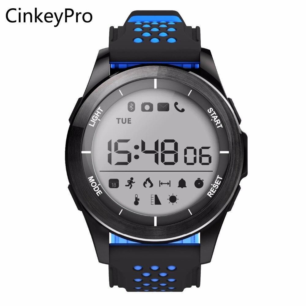 CinkeyPro Smart Watch F3 Sports Digital Men Outdoor Smartwatch Pedometer Notifier Sync Altitude for Apple iPhone