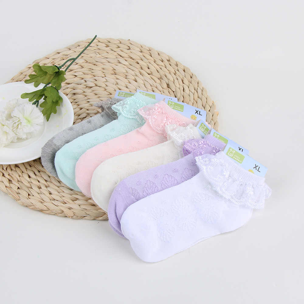 f0d678b6ad166 1 Pair New Hot Sale Cute Baby Girls Ankle Socks Newborn Children Spanish  Elastic Cotton Lace Anti-Slip Ankle Knitted Socks
