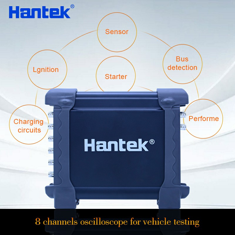 Hantek 1008C Programmable Digital Multimeter Automotive Oscilloscope 8 Channels PC Storage Osciloscopio USB Diagnostic 1008C hantek 1008c digital oscilloscope 8ch pc usb automotive diagnostic daq program generator 8ch 2 4msa s vehicle tester