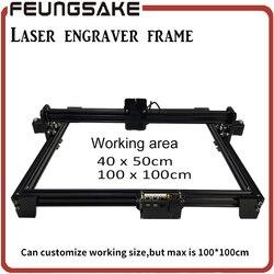 laser machine frame,DIY Mini Laser Engraving Machine for connect 15w laser 5500mw 2500mw 100*100,40*50cm Engraving Area with PMW