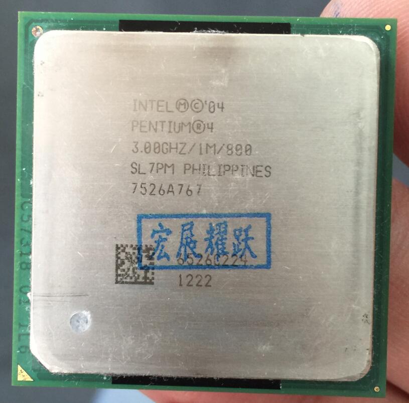 Intel Pentium 4 PC ordinateur P4 3.00 GHZ 1 M 800 SL7PM EO P4 3.0 GHZ P4 3.0 3.0G 3.00G 3.0E CPU De Bureau processeur Socket 478