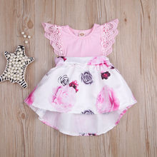 96db89417c9e 0-3 Years Old Rose flower Lace Toddler Kids Baby Girls Travel Dress Floral  Print Sleeveless Princess Dress Outfits CC# dropship