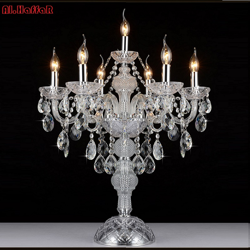 Fashion crystal table lamps for bedroom luxury crystal table lamp modern Bedside lamp american K9 luxury crystal decoration lamp fashion simple modern k9 crystal table lamp warm bedroom bedside cabinet lights qiseyuncai