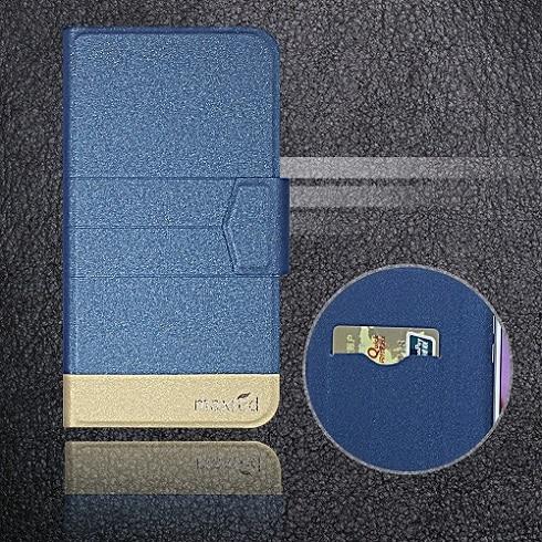 5 цветов хит! Кожаный чехол для телефона Digma LINX Atom 3g, заводская цена, защитный полностью откидной кожаный чехол с подставкой для телефона s - Цвет: Blue