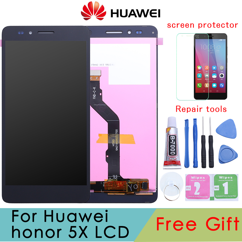 For Huawei Honor 5X LCD Display + Touch Screen + Tools FHD 100% New Digitizer Assembly Replacement For Huawei GR5 5.5 Inches