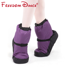 2018 New Ballet Warm-ups For Women Ballet Pointe Dance Shoes Soft Dance Boots Protection Foot Warm Shoes Winter Fitness Boots