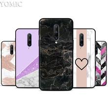 Marble Line Luxury Silicone Case for Oneplus 7 7Pro 5T 6 6T Black Soft Case for Oneplus 7 7 Pro TPU Phone Cover