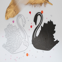 Elegant swan Metal Cutting Dies for DIY Scrapbooking Craft Album Decoration greeting card 103*95 mm