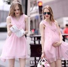 Europe United States new 2016 summer Princess sleeveless chiffon skirt maternity clothes