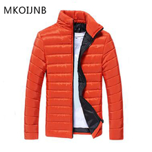 MKOIJNB Winter Jacket Brand Men Solid Stand Collar Coat Zipper Slim Parkas Coats Casual Veste Homme Clothing Mens Tops Fashion