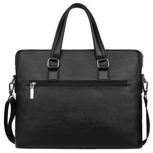 Image 2 - VIKUNJA POLO Einfache Design Freizeit männer Leder Laptop Handtasche Business Casual Mann Aktentasche Computer Schulter Taschen