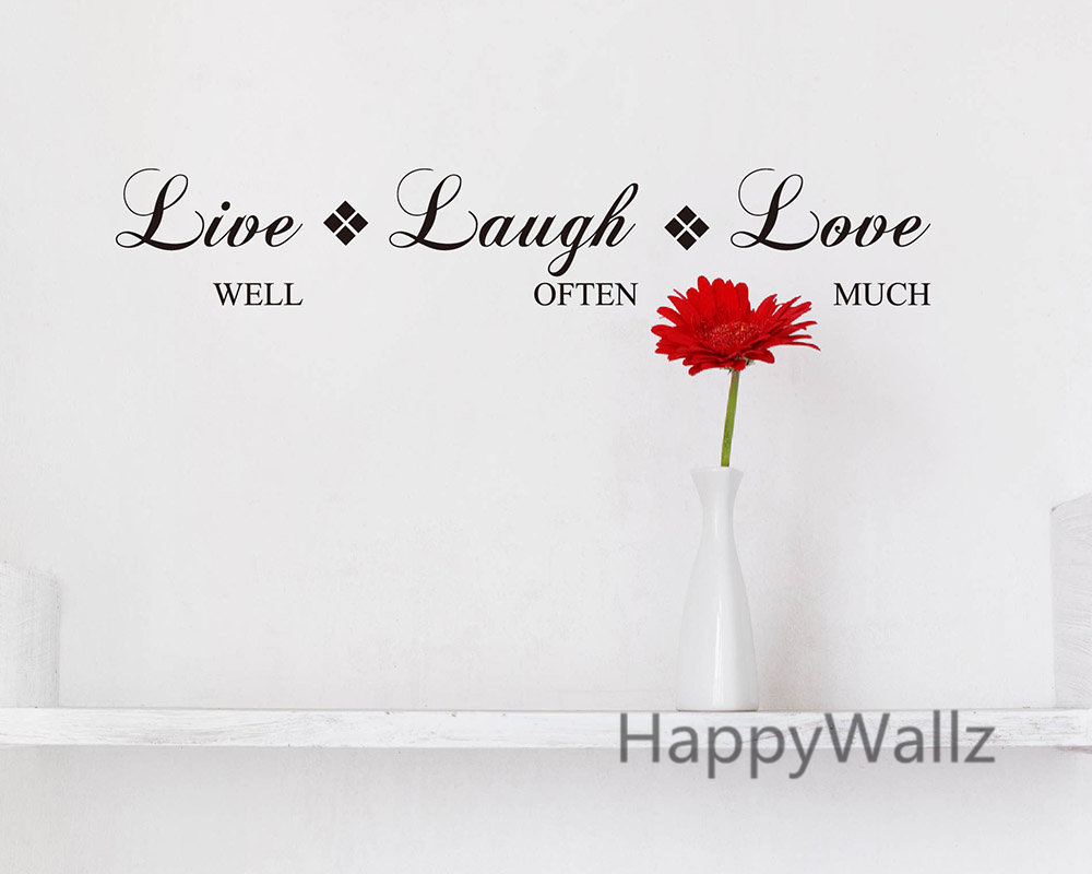 Aliexpress Buy Live Well Laugh ten Love Much Motivational Life Quote Wall Sticker DIY Inspirational Life Quotes Vinyl Wall Art Decal Q142 from