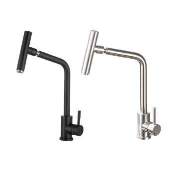 Stainless Steel Kitchen Faucet 360 Degree Swivel Spout Sink Tap Bathroom Basin Faucet Hot Cold Water Mixer Tap Deck Mounted