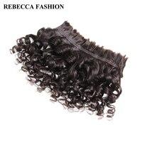 רבקה שיער אדם בתפזורת לקליעת שיער רמי ברזילאי גל רופף 3 חבילות משלוח חינם 10 30 Inch צבע טבעי תוספות