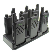 WLN Walkie Talkie 6 In 1 Charger Two Way Radio KD-C1 KD-C2 Unit Charging Plus Six for KD-C1Plus