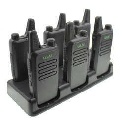 WLN Walkie Talkie 6 In 1 Charger Two Way Radio KD-C1 KD-C2 Unit Charging KD-C1 Plus Two Way Radio Six Way Charger for KD-C1Plus