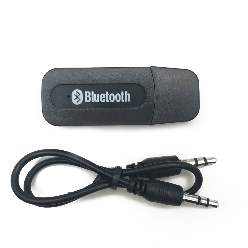 Adaptador de auto auxiliar portátil para receptor Bluetooth para música,Mp3.