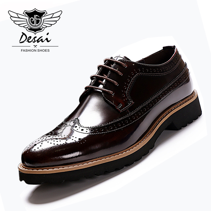 2018 Summer New British Style Carved Bullock Shoes Men Business Dress Casual Shoes Fashion Genuine Leather Shoes цена