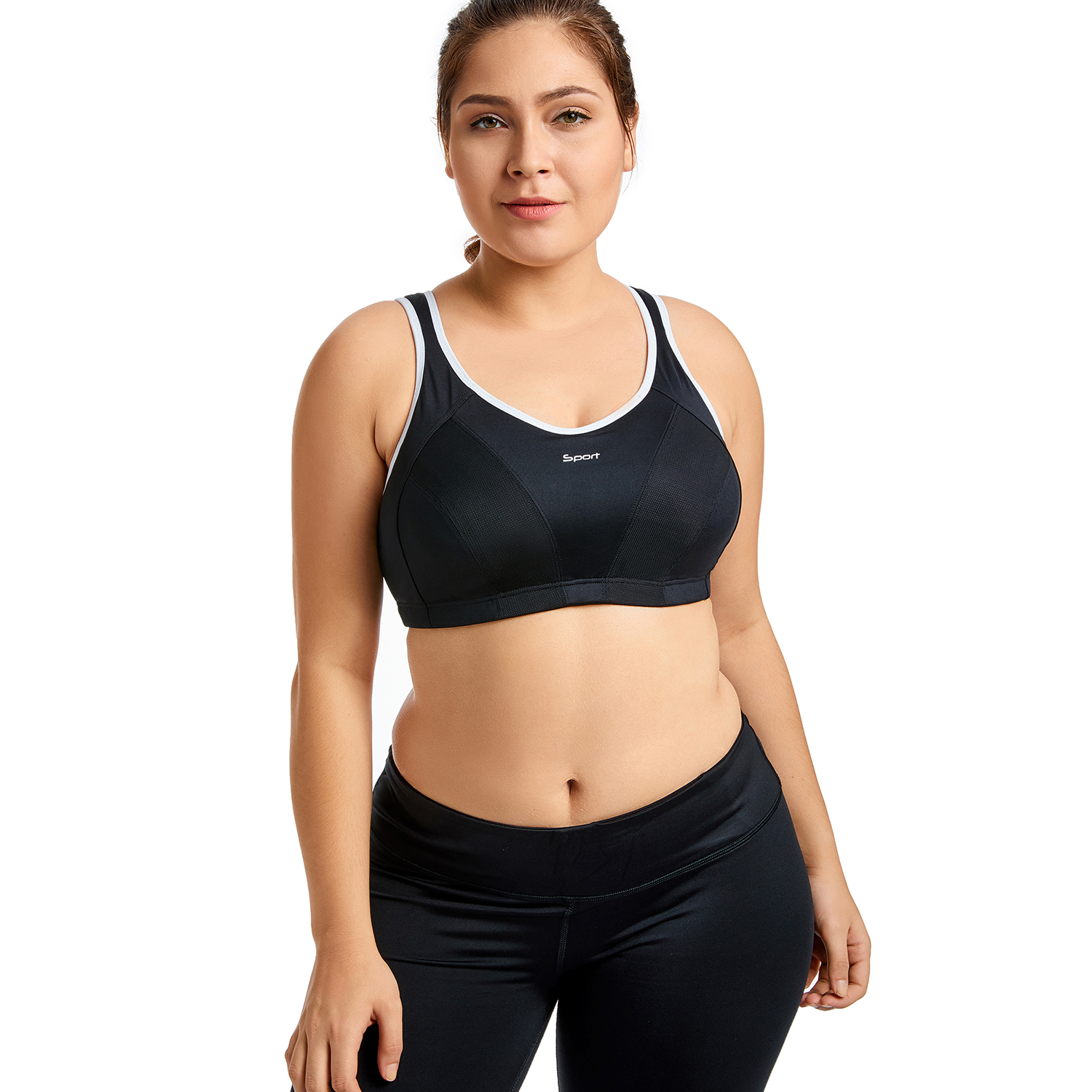 f15fbc5693 Women s High Impact No Bounce Full Support Non Padded Racerback Pro  Exercise Bra-in Bras from Underwear   Sleepwears on Aliexpress.com
