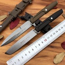 EDC MAMBA nóż taktyczny survivalowe noże myśliwskie tanto N690 stalowe ostrze stałe extreme ratio wilderness narzędzia do pracy na zewnątrz mes facas tanie tanio Hydraulika Fixed blade knife STEEL Gumowe HUOWEN