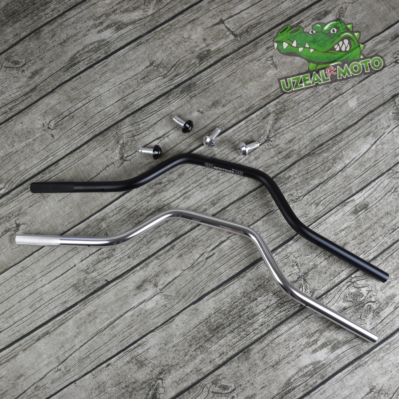 750mm 22MM Universal vintage motorcycle aluminum alloy handlebar tubes with 14mm balance block