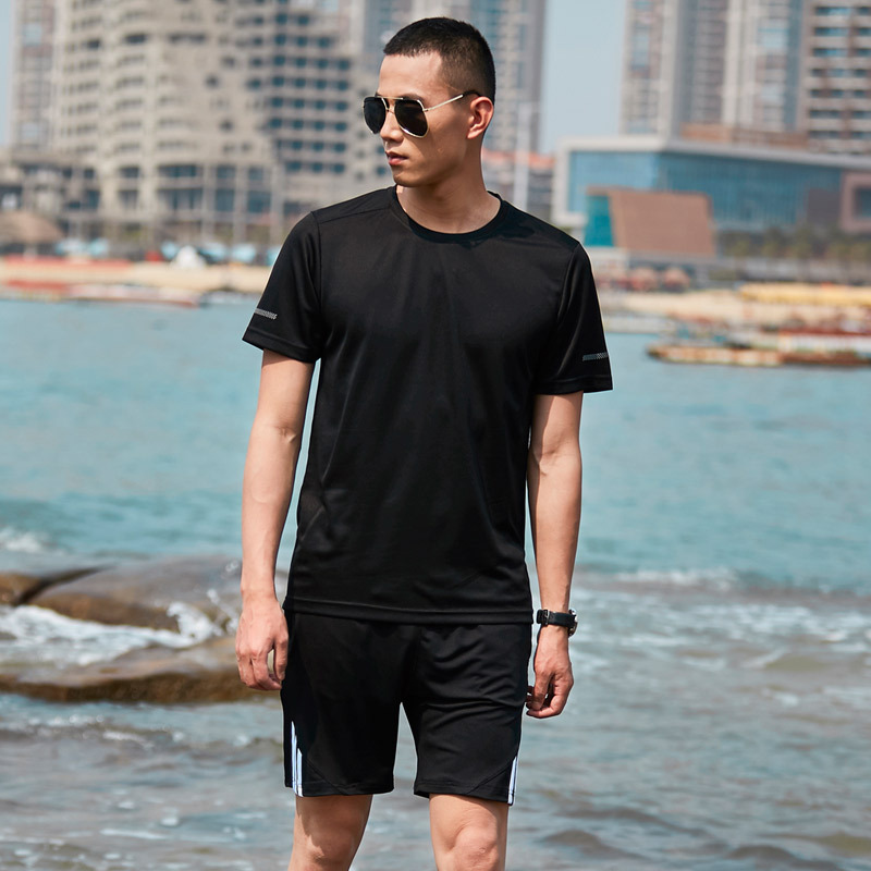 Men Summer Quick Dry Outdoor Exercise Tracksuit Sport Top Large Size M-8XL Beach Jogging Set Suits Loose Fit Running Sportswear