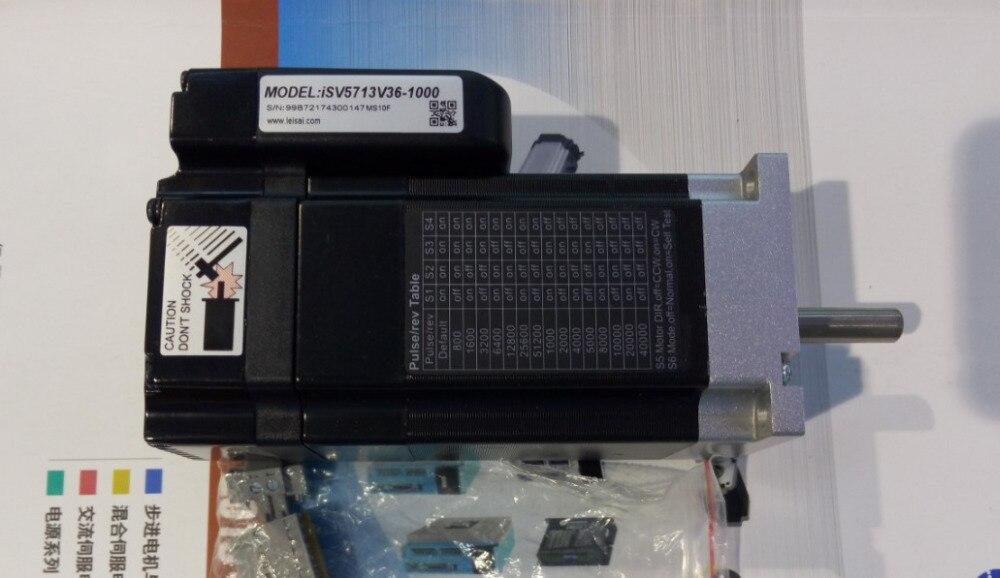 130 W Leadshine servo Intégré moteur NEMA 23 ISV5713V36-1000 Servo Moteur 3000 RPM Vitesse Nominale CNC gagner de la place codeur 1000 ligne