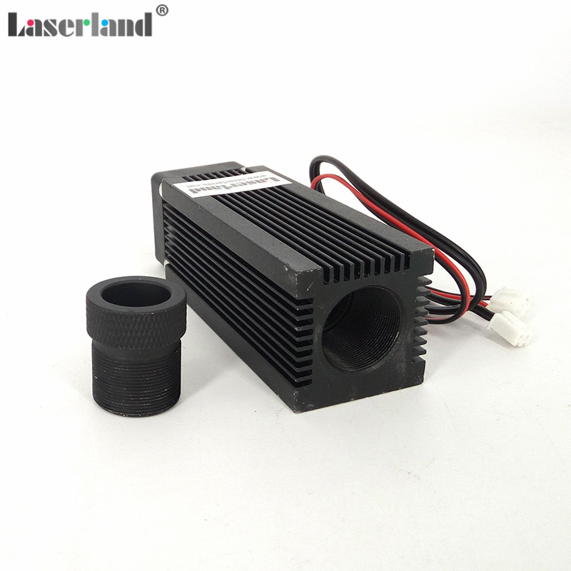 33x33x80mm Focusable Laser Module Housing Case For C-Mount Laser Diode  With Heat Sink And LD Base Good Cooling