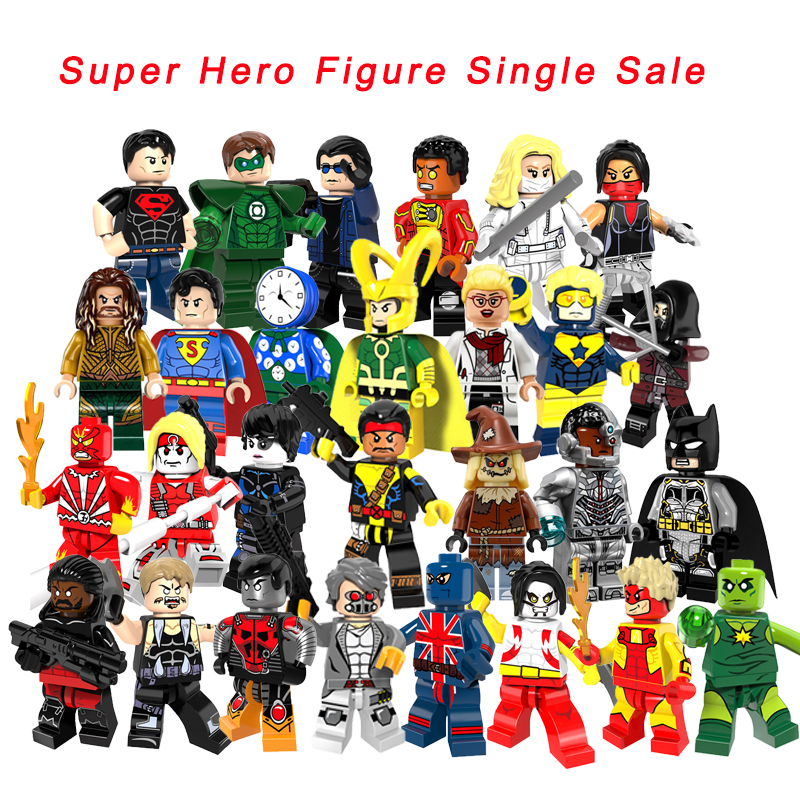 Single Sale Legoelys Super Heroes Fire Sunfire Black Arrow Invisible Man Firestorm Cyborg Batman Forge Building Blocks Toys