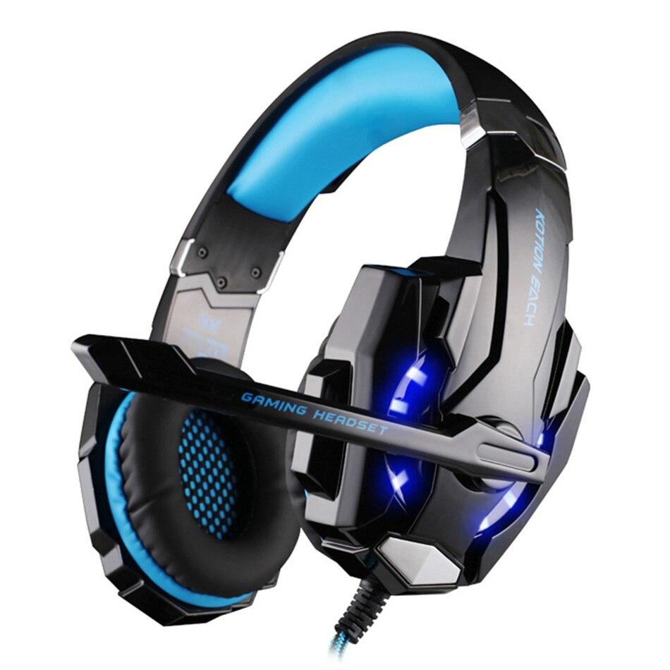 bilder für KOTION JEDER G9000 3,5mm Spiel LOL Gaming Kopfhörer Headset Leucht Kopfhörer Mit Mic LED-Licht Für Laptop Tablet/PC