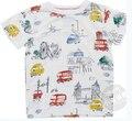 Marcas quentes 100% algodão 2017 nova Crianças T-shirt meninos Curto camisas manga Verão Crianças Tops Dos Desenhos Animados Roupas de Bebê Menino de Algodão Top
