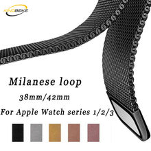 Fashion Milanese Watchbands for Apple Watch 38mm/42mm Series 1/2/3/4 Metal Stainless Steel Links Bands Wristwatch Bracelet Strap