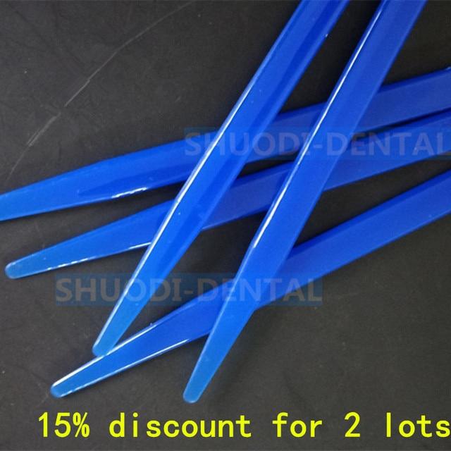 15 piezas dentales espátula mezcla yeso desechables espátula de plástico hoja azul Instrumentos dentales herramientas dentista