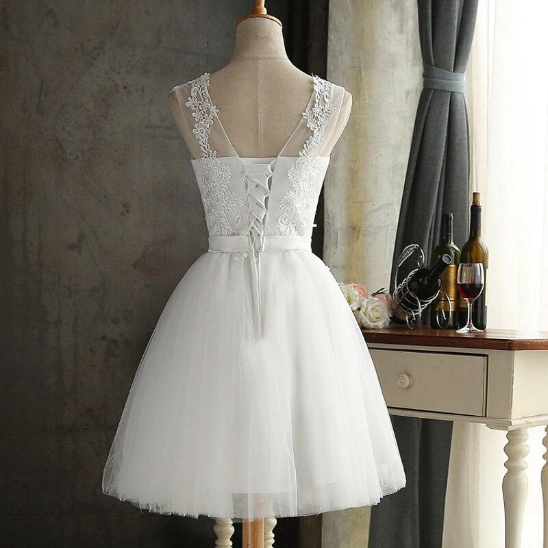 2019 Summer Graduation Gown Lace Dress Women Bowknot Mesh Dress Bridesmaid's Gown Slim Party Dresses Vestidos 4 Colors