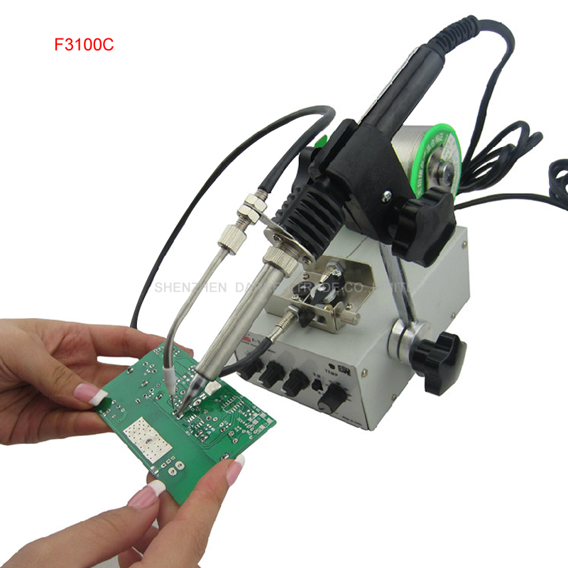 1pcs Automatic tin feeding machine constant temperature soldering iron Teclast iron F3100C multi-function foot soldering machine automatic tin feeding machine constant temperature soldering iron teclast multi function foot soldering machine f3100a