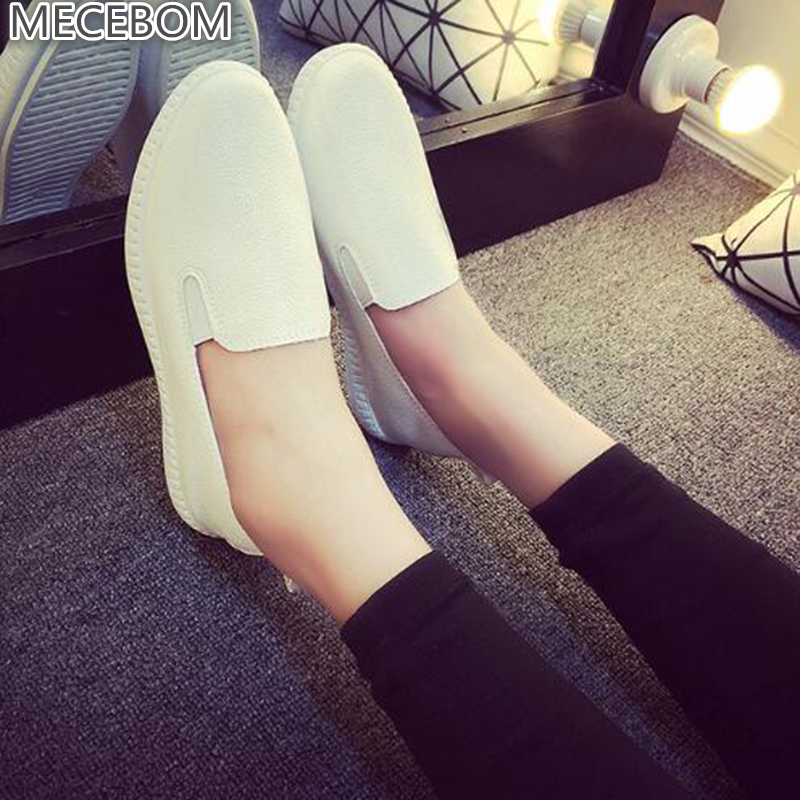 Casual Flat Shoes Woman 2018 Spring Solid Loafers Slip On Flats Fashion Round Toe Women Shoes 3 Colors Size 35-40 F039 ballet flats women flat shoes fashion loafers round toe slip on shoes woman casual soft comfortable
