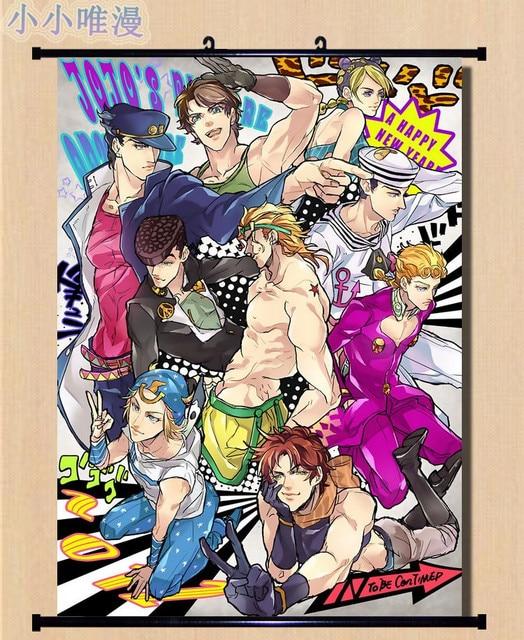 Japanese Anime JoJo's Bizarre Adventure William.A.Zeppeli & Joseph Joestar Home Decor Wall Scroll Poster Decorative Pictures 4