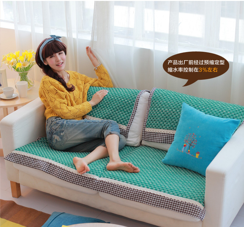 HBZ44 Fabric Couch Sofa Loveseat Pet Furniture Slip Cover Protector Cloth  Towel Tablecloth Green Pastora Rectangle 1 2 3 Seater In Sofa Cover From  Home ...