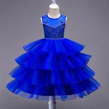 Flower Princesse Girls Dress Sleeveless Kids Wedding Party Dresses For Girl Ruffles Prom Gown Children Costume цены