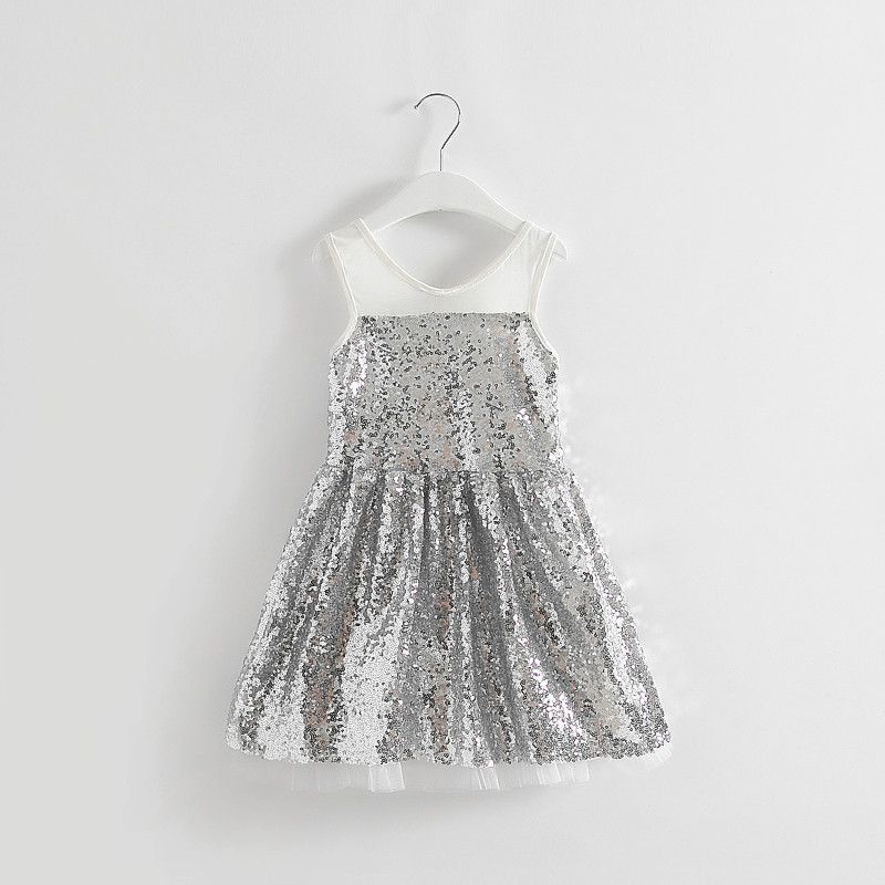 Online Get Cheap Silver Sequin Girls Dress -Aliexpress.com ...