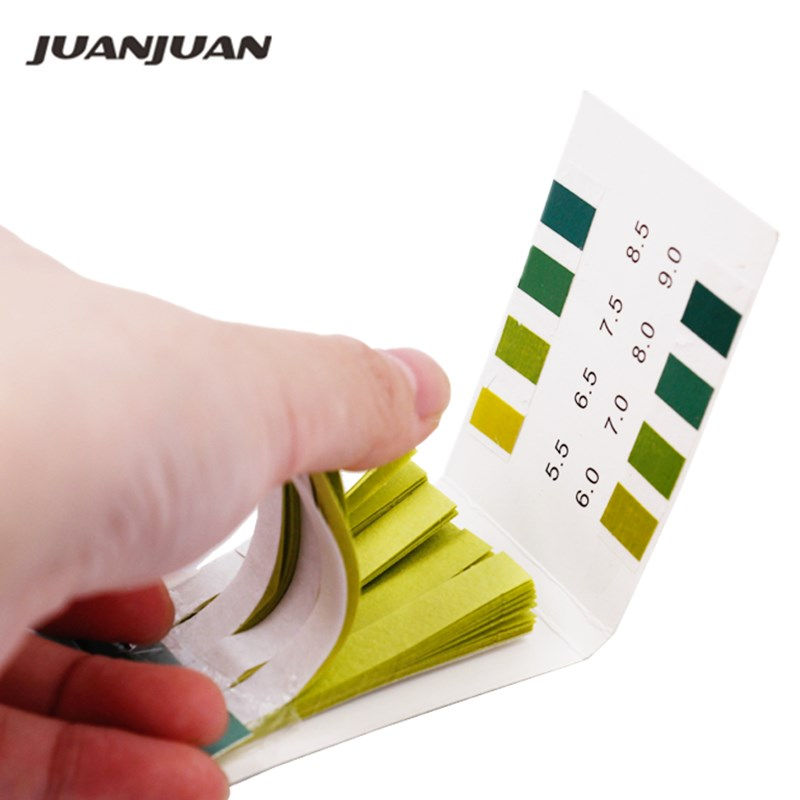 1set 5.5-9.0 PH Litmus Paper Meter 80 Strips Ph Alkaline Tester For Water Aquarium Plant 40%off