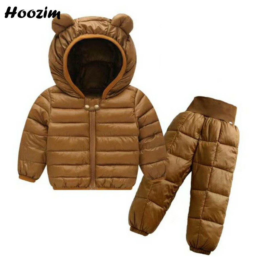 Winter Sports Suit For Girls 18 M-6 Years Fashion Hooded Jacket + Thick Warm Pants Kids Autumn Set Boy Pretty Boys Baby Clothing 2 pcs baby boy clothing set baby navy blue long sleeve warm velvet jacket boys hooded coat pants girls hoodies kids trousers