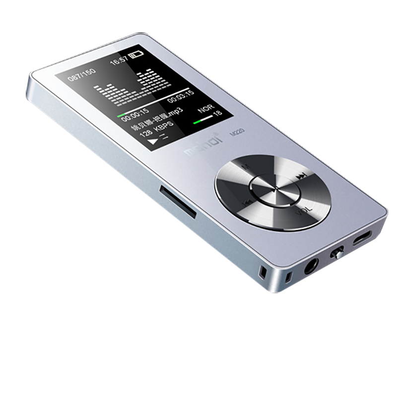 Portatile in metallo mp3 player Built-In Altoparlanti e-book radio fm orologio registratore audio flac lossless hifi sport music video player