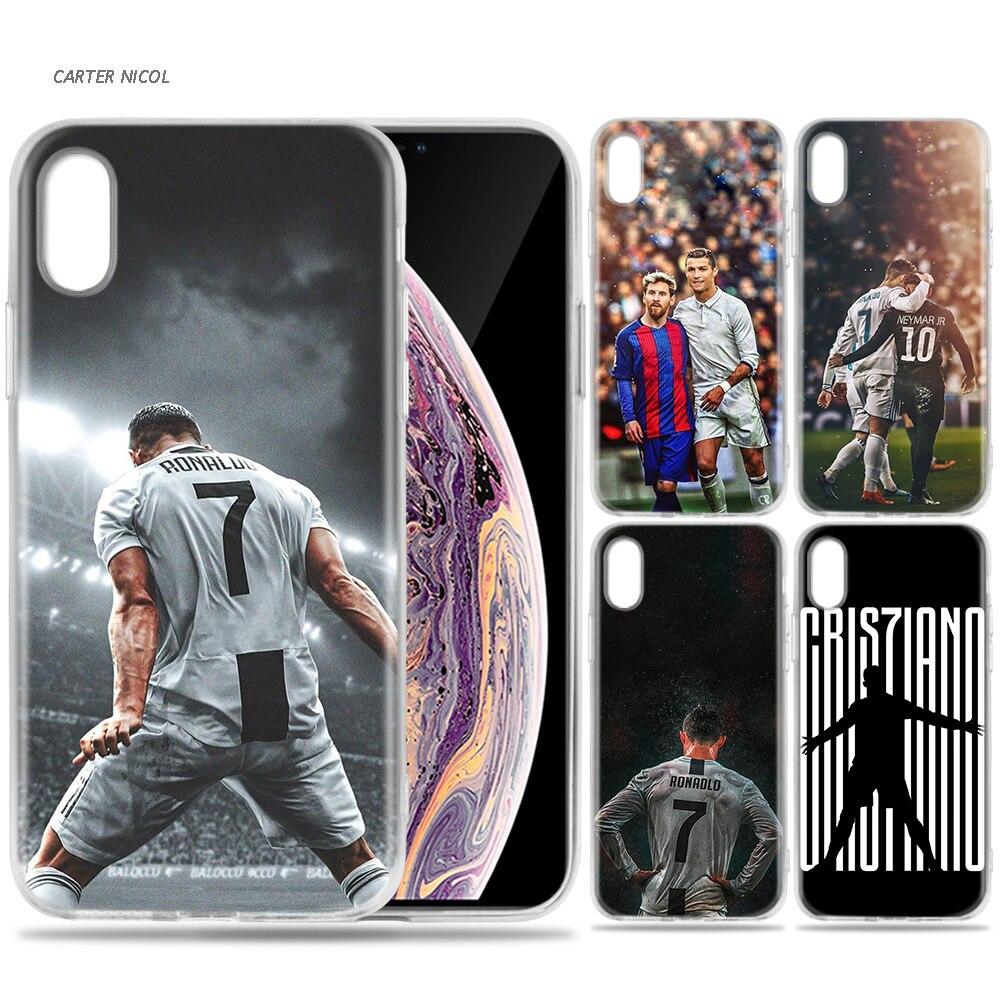 CR7 CRISTIANO RONALDO stile 2 Cover Custodia per Apple iPhone 6 7 8 PLUS X XR XS MAX