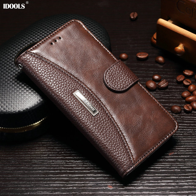 IDOOLS Case for Oneplus 5t 6.01 Inch PU Leather Wallet Flip Covers Vintage Phone Bag Cases for OnePlus 5 One Plus 5t 1+5t A5000