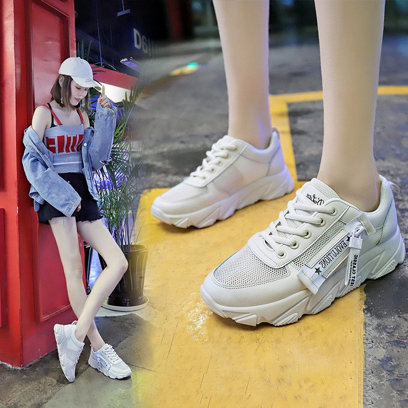 womens sneakers flats shoes 2019 summer new Korean version of the wild breathable mesh student casual sports shoes in Women 39 s Flats from Shoes