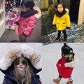 Европейский стандарт 90 бархат свет тонкий конфеты цвет с капюшоном детская одежда пуховик пальто мальчик и гриль с