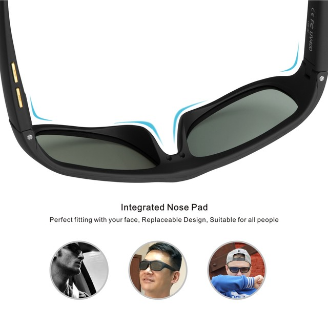 Original Design Sunglasses LCD Polarized Lenses Transmittance Darkness Adjustable Electronic Control Lenses for Driving Fishing